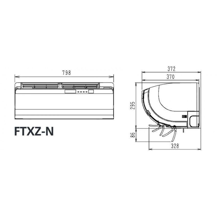 Климатик Инвертор Daikin FTXZ35N / RXZ35N - Ururu Sarara - BLUEVOLUTION R32