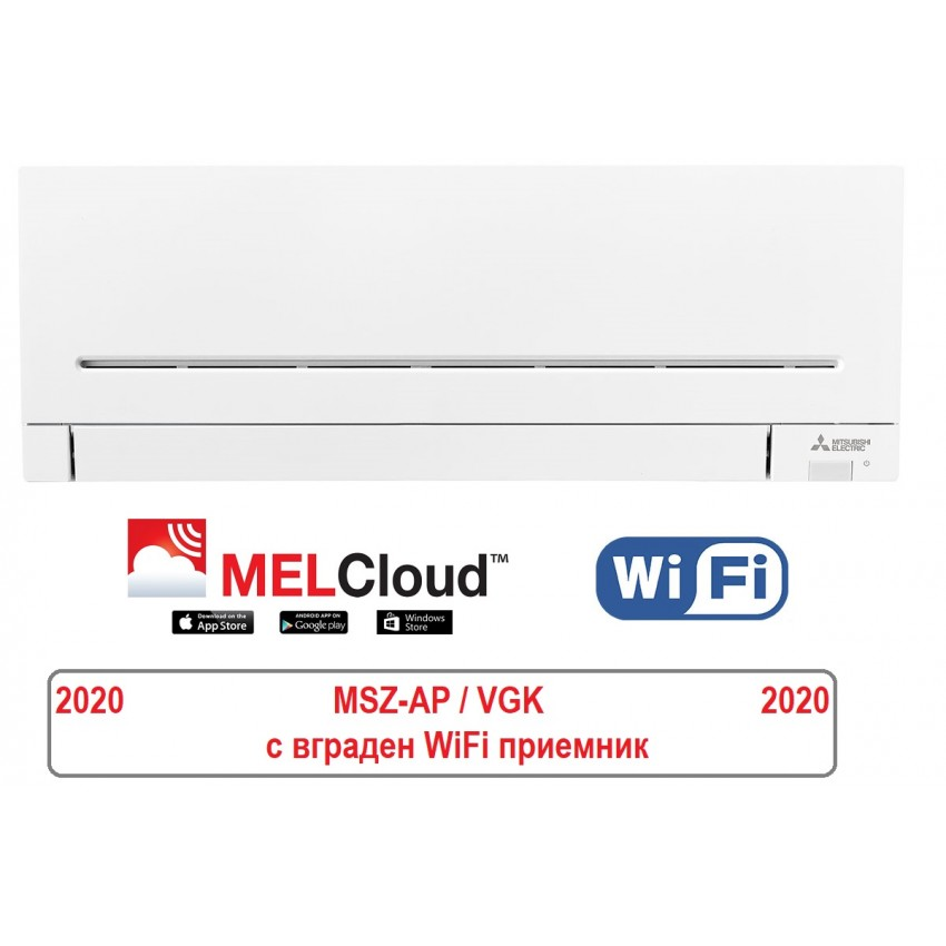 NEW MODEL 2020 Refrigerant R32 Wall Mounted Type Inverter Mitsubishi MSZ-AP50VGK / MUZ-AP50VG with WIFI
