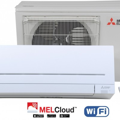 НОВ STANDART МОДЕЛ 2020 ХЛАДИЛЕН АГЕНТ R32 Климатик Инвертор Mitsubishi MSZ-AP25VGK / MUZ-AP25VG с Вграден WIFI