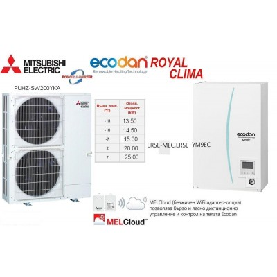 HEAT PUMP ECODAN Split Type POWER INVERTER PUHZ-SW200YKA With INDOOR UNIT ERSE-MEC/YM9EC