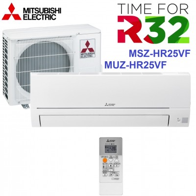 NEW MODEL 2019 Refrigerant R32 Air Conditioning INVERTER Mitsubishi Electric MSZ-HR25VF / MUZ-HR25VF